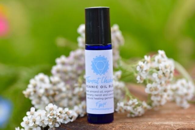 Throat Chakra Organic Oil Blend - Apatite Infused