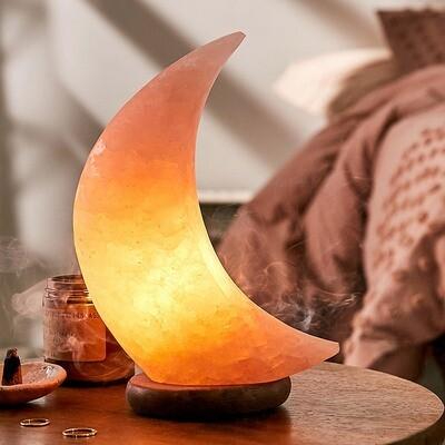 Crescent Moon Himalayan Salt Lamp