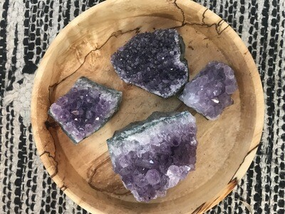 Raw Amethyst Cluster (palm sized)