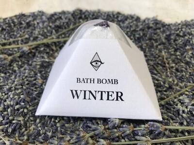 Crystal Infused WINTER Bath Bomb