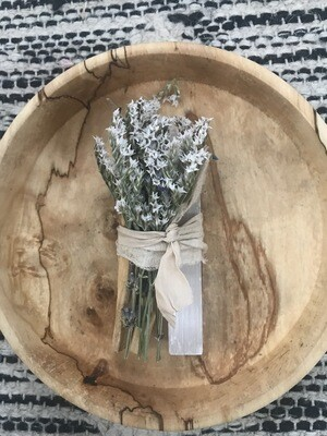 Palo Santo and White Selenite Floral Smudge Bundle