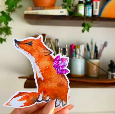 Fox Holographic Sticker
