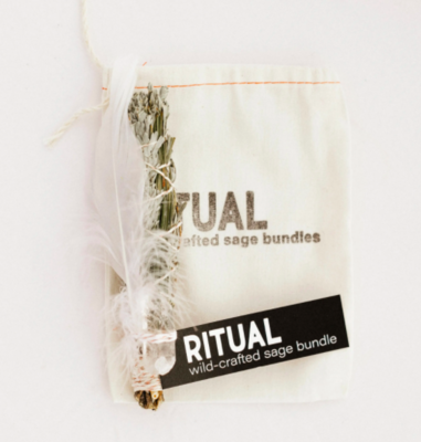 Ritual - Wildcrafted Sage with Pine Bundle - Clear Quartz