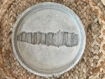 S|P Crystal Infused Concrete Round Catch-all