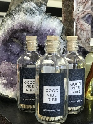 Good Vibe Tribe Vintage Style Match Bottle