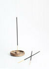 Walnut Incense Holder - Round