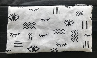 Embroidered Lavender and Amethyst Eye Pillow - ALL SEEING EYES