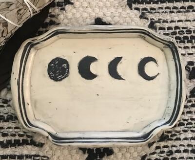 Moon Phase Smudge Dish - Dry Creek Studio