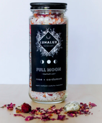 Full Moon - Rose and Cardamom Salt Soak