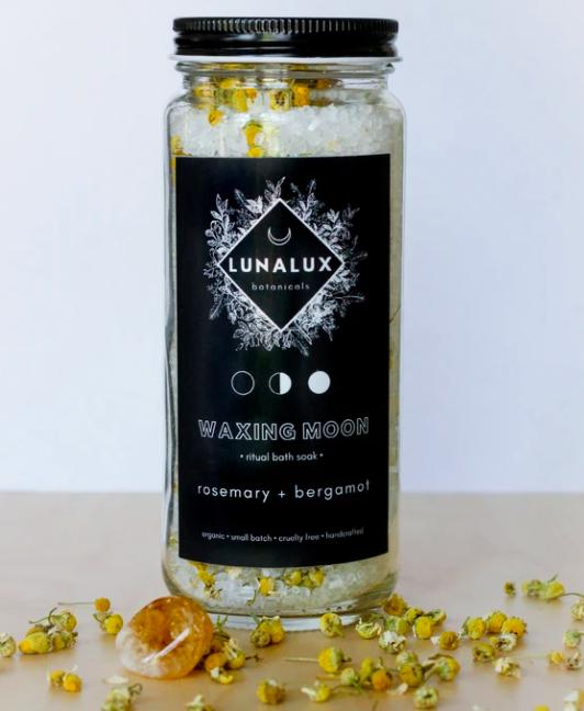 Waxing Moon - Rosemary and Bergamot Salt Soak