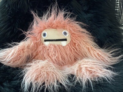 Crystal Infused Protective Snuggle Monster -Pink with Velvet Face