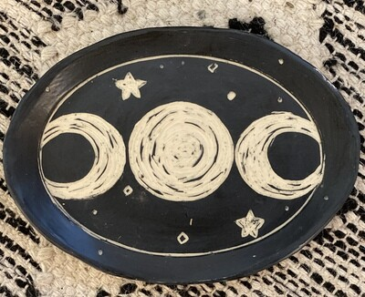 Lunar Oval Smudge Dish - Dry Creek Studio