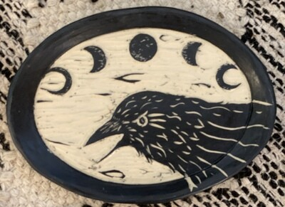 Raven Moon Oval Smudge Dish - Dry Creek Studio