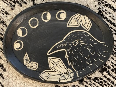 Raven Oval Smudge Dish - Dry Creek Studio