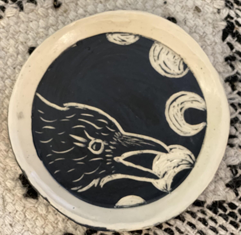 Raven Moon Round Smudge Dish - Dry Creek Studio