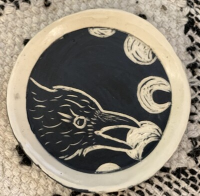 Raven Moon Round Smudge Dish - Dry Creek Studio