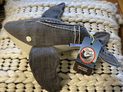 Crystal and Lavender Infused Homer Humpback Whale- Made in Alaska (Gray Denim)