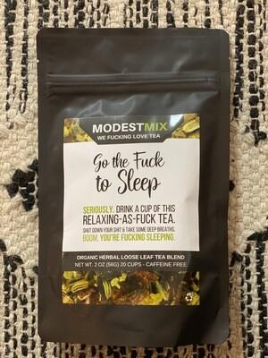 Go the F**k to Sleep Organic Herbal Loose Leaf Tea Blend