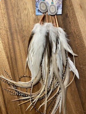 Ursa Major Antler and Feather Earrings