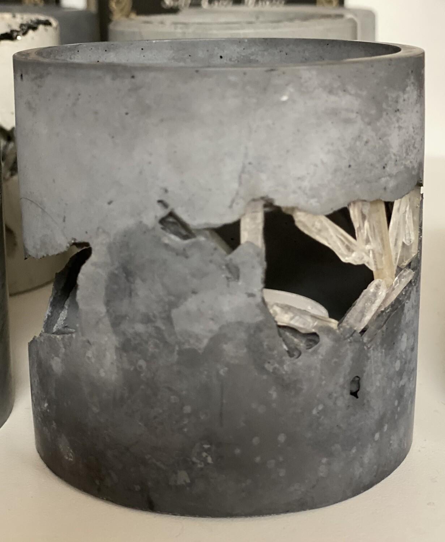 S|P Crystal Infused Concrete Votive Vessel