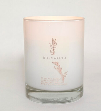 Rosmarino  9.5 oz Wood Wick Candle