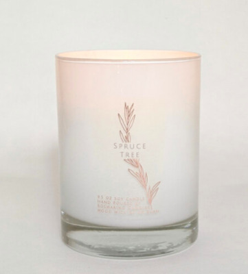 Spruce Tree  9.5 oz Wood Wick Candle