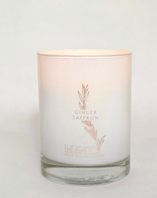 Ginger Saffron  9.5 oz Wood Wick Candle