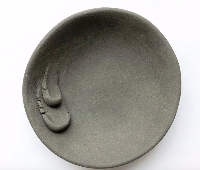 Black Porcelain Trinket Dish