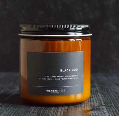 Black Oud Soy Candle