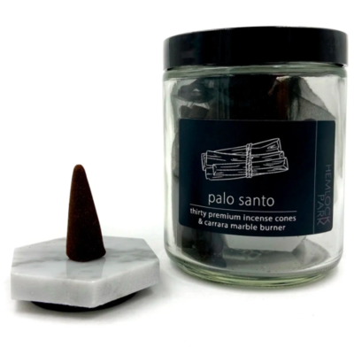 Palo Santo Incense Cones and Marble Burner