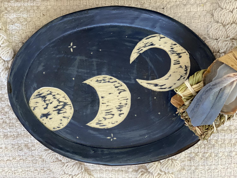 Lunar Oval Smudge Dish - Dry Creek Studio