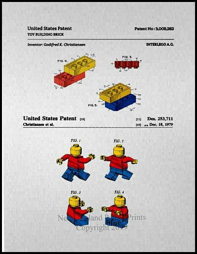 LEGO Blocks & Mini-Figure - Framed