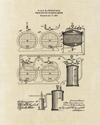 Beer Making Process - Unframed 8x10