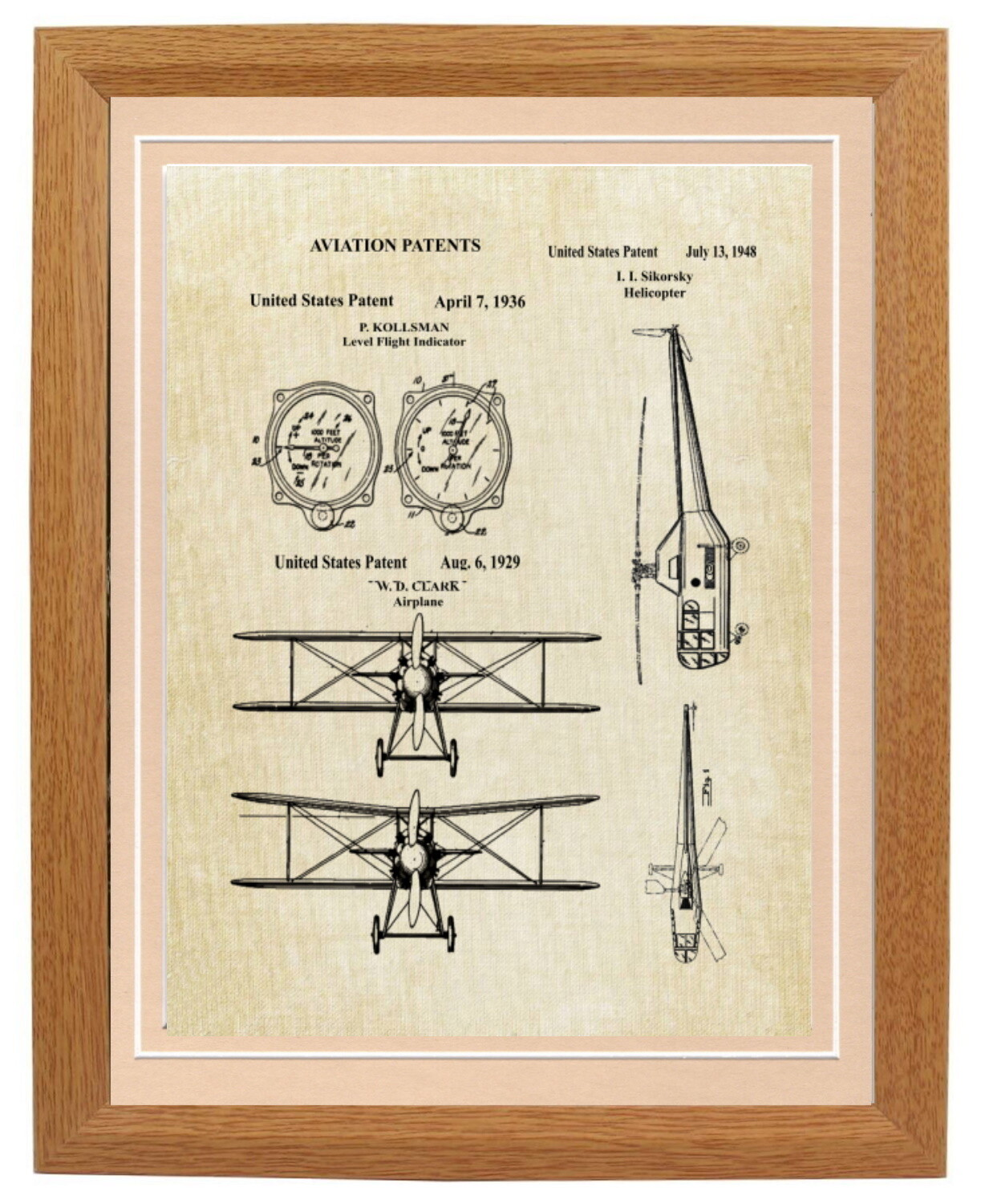 Pilot or Aviation Industry Patent Art Prints
