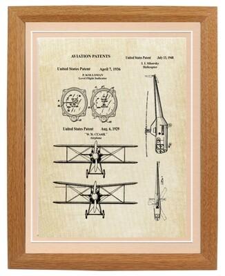 Pilot or Aviation Industry Patent Art Prints