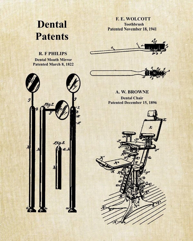 Dental Collage Patent Print UnFramed