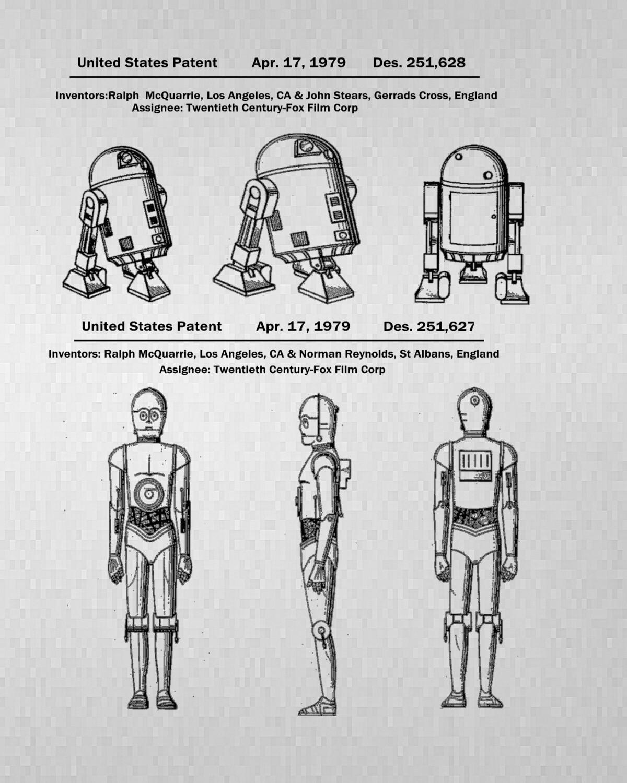 Star Wars R2-D2 & C-3PO Unframed