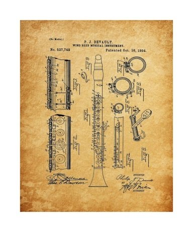 Clarinet 1894 Unframed & Matted