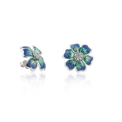 orecchini flowers blu