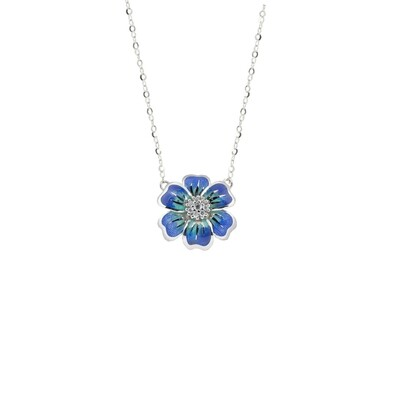 Collana  Flowers blu