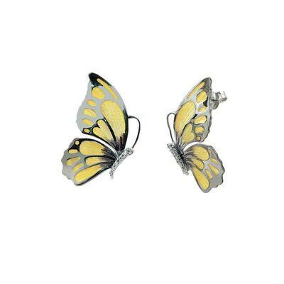 orecchini farfalla gialla