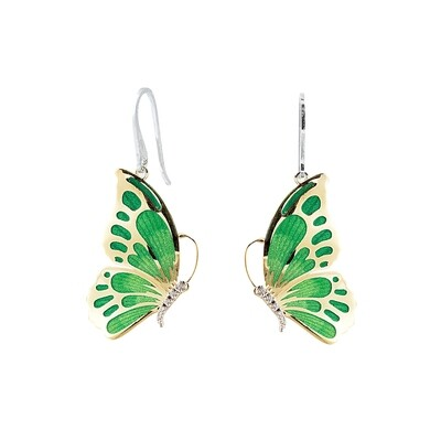 orecchino farfalla verde
