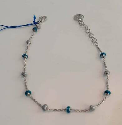 Bracciale arg 925 azzurro