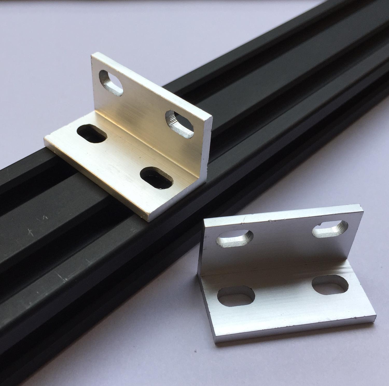 Universal L Bracket (Double) 2040 Aluminum Extrusion Profile