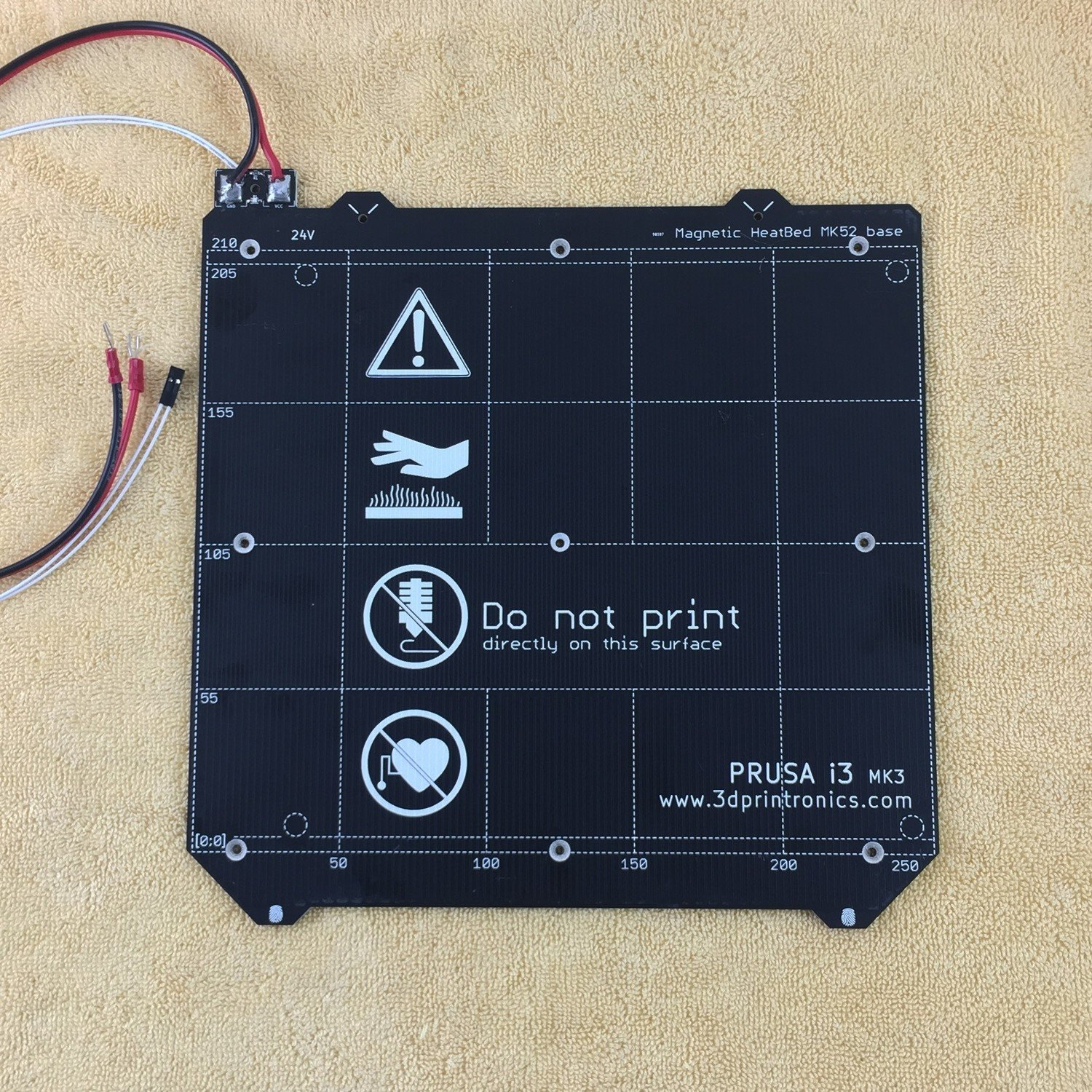Prusa i3 Mk52 Heated Bed - 12Volts