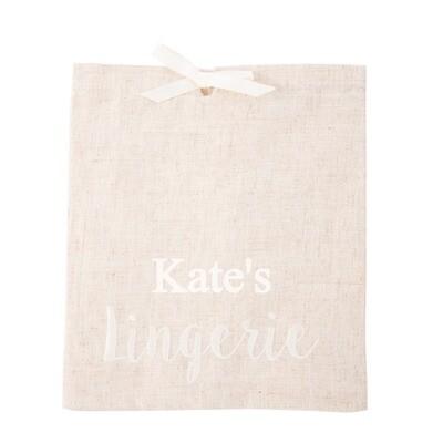 Linen Lingerie Bag
