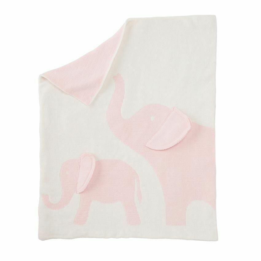 Elephant Chenille Blanket