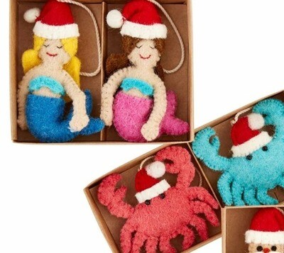 Christmas Beach Ornaments