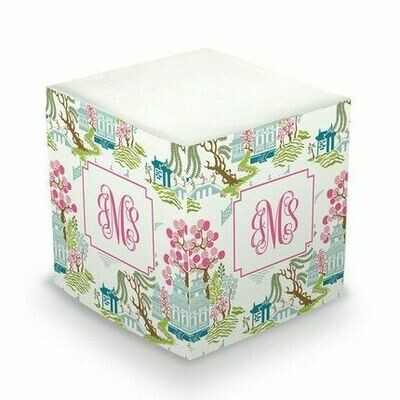 Chinoiserie Spring Memo Cube