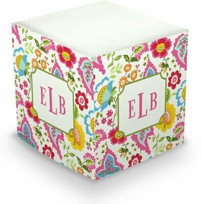 Bright Floral Memo Cube